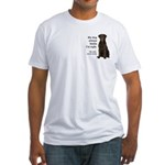Chocolate Lab v. Wife Fitted T-Shirt