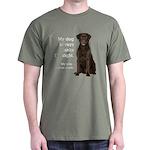Chocolate Lab v. Wife Dark T-Shirt