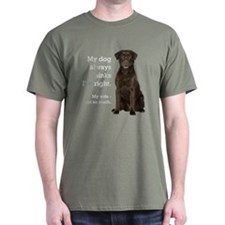 Chocolate Lab v. Wife T-Shirt