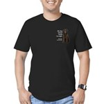 Chocolate Lab v. Wife Men's Fitted T-Shirt (dark)