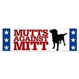 Mutts Against Mitt Car Sticker