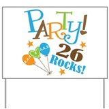 26 Rocks 26th Birthday Yard Sign