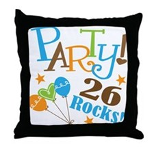26 Rocks 26th Birthday Throw Pillow