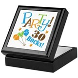 30 Rocks 30th Birthday Keepsake Box