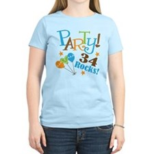 34 Rocks 34th Birthday T-Shirt
