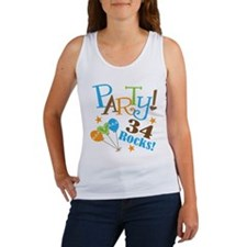 34 Rocks 34th Birthday Women's Tank Top