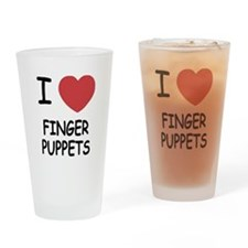 I heart finger puppets Drinking Glass