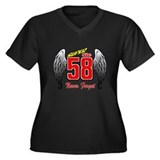 MS58SSwings Women's Plus Size V-Neck Dark T-Shirt