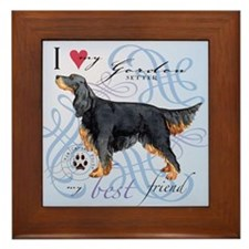 Gordon Setter Framed Tile