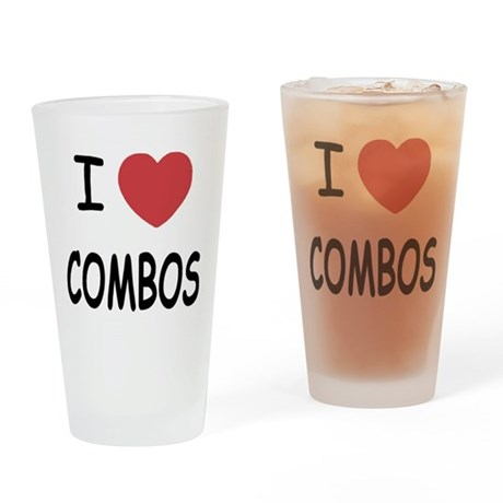 I heart combos Drinking Glass