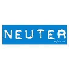 Neuter (SNRL 2/4) Bumper Bumper Sticker