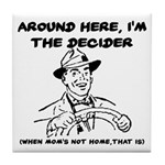 Dad The Decider Father's Day Tile Coaster