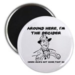 Dad The Decider Father's Day Magnet