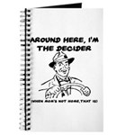 Dad The Decider Father's Day Journal