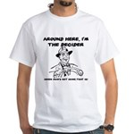 Dad The Decider Father's Day White T-Shirt