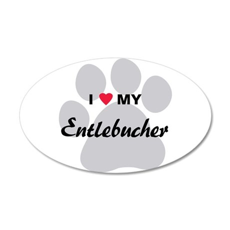 I Love My Entlebucher 38.5 x 24.5 Oval Wall Peel