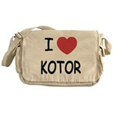 I heart kotor Messenger Bag