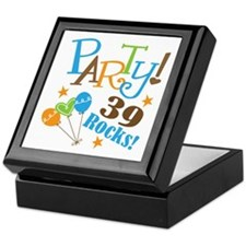 39 Rocks 39th Birthday Keepsake Box