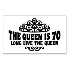 Funny 70th Birthday Decal