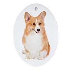 Pembroke Corgi Ornament (Oval)