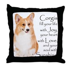Pembroke Corgi Throw Pillow