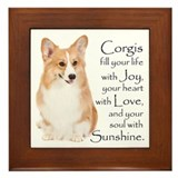 Pembroke Corgi Framed Tile