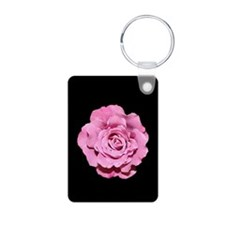 Pale Pink Rose Photo Keychain