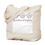 Grandma of Triplets Tote Bag