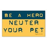 Be a Hero Rectangle Decal