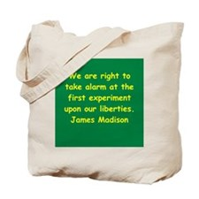 james madison Tote Bag