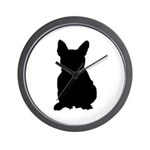 French Bulldog Silhouette Wall Clock