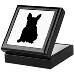 French Bulldog Silhouette Keepsake Box