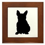 French Bulldog Silhouette Framed Tile