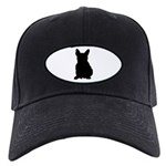 French Bulldog Silhouette Black Cap