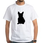 French Bulldog Silhouette White T-Shirt