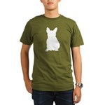French Bulldog Silhouette Organic Men's T-Shirt (d