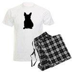 French Bulldog Silhouette Men's Light Pajamas