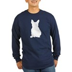 French Bulldog Silhouette Long Sleeve Dark T-Shirt