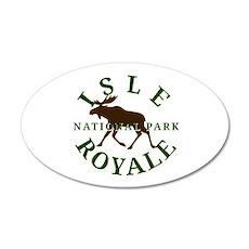 Isle Royale National Park 38.5 x 24.5 Oval Wall Pe