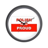 Polish And Proud Wall Clock