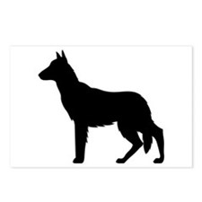 German Shepherd Silhouette Postcards (Package of 8