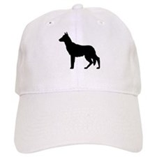 German Shepherd Silhouette Baseball Cap