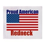 Proud American Redneck Throw Blanket
