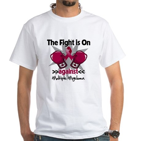Fight Multiple Myeloma White T-Shirt