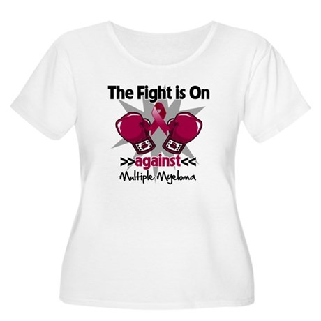 Fight Multiple Myeloma Women's Plus Size Scoop Nec