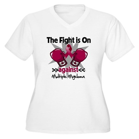 Fight Multiple Myeloma Women's Plus Size V-Neck T-
