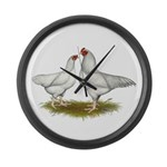 Ixworth Chickens Large Wall Clock