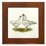 Ixworth Chickens Framed Tile