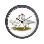 Ixworth Chickens Wall Clock