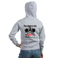 Fight is On Melanoma Zip Hoodie